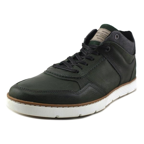 96009b48045 Shop Bull Boxer Samyel Men Round Toe Leather Green Sneakers - Free ...