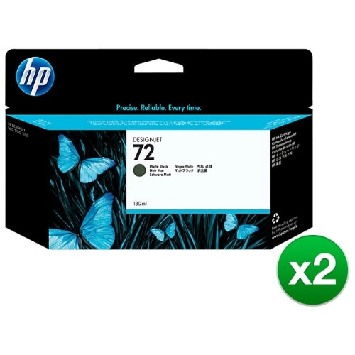 HP 72 130-ml Matte Black DesignJet Ink Cartridge (C9403A) (2-Pack)