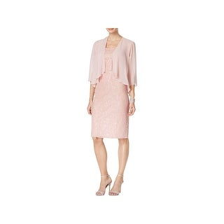 SLNY Womens Dress With Cardigan Sequined Lace - 14