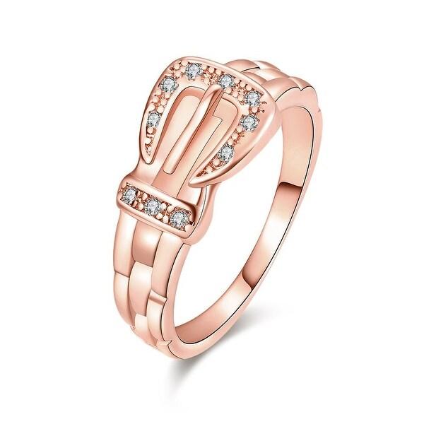 Rose Gold Belt Buckle Design Ring