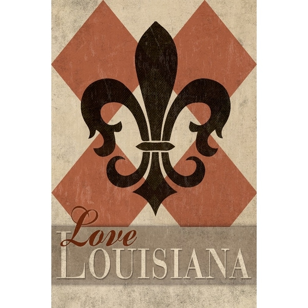 Shop Love Louisiana Argyle W Fleur De Lis Lantern
