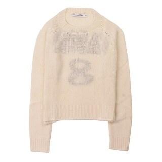 Dior Women's Ivory Cashmere J'Adior 8 Crewneck Sweater