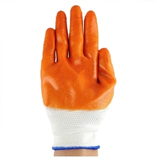 Work Universal Protection Gloves Nyron PVC 24cm Blue Grey