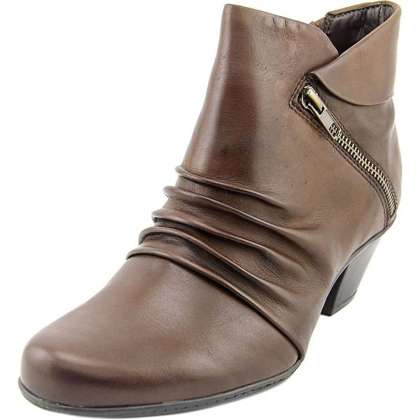 Earth Pegasus Women Round Toe Leather Brown Bootie