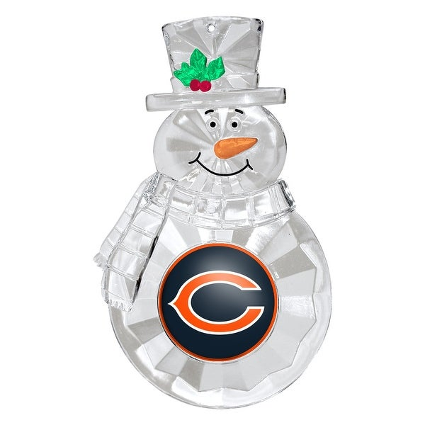 Chicago Bears 4.5 Acrylic Traditional Snowman Ornament""
