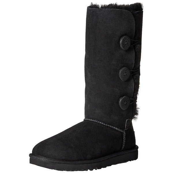 Ugg Womens Bailey Leather Closed Toe Mid-Calf Cold Weather Boots