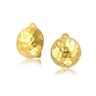 Bling Jewelry Gold Plated .925 Silver Golf Ball Clip On Earrings Alloy Clip