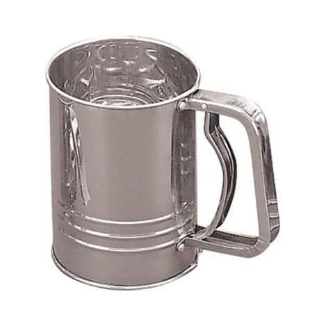 Fox Run 4653 Flour Sifter, 3-Cup, Stainless Steel