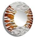 Statements2000 Silver / Brown Metal Decorative Wall-Mounted Mirror by Jon Allen - Mirror 107 - Thumbnail 9