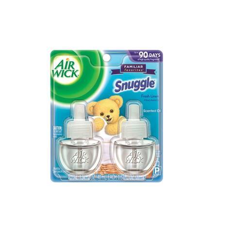 Air Wick 6233882291 Snuggle Air Freshener Oil Refill, Fresh Linen