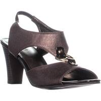 KS35 Lolaa Block Heel Slingback Sandals, Brown Metallic - 7.5 us