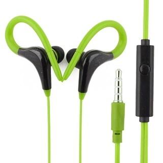 Mp3 Computer 3.5mm Plug Jack Ear-Hook Hanger Design Earphones Headphones Green