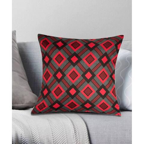 Cottage Plaid Decorative Throw Pillow 18x18