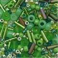 Toho Multi-Shape Glass Beads 'Wasabi' Green Color Mix 8 Gram Tube - Thumbnail 0