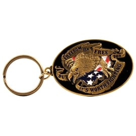 Pilot Automotive Black/ Gold Freedom Key Chain