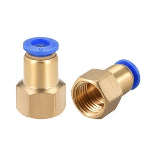 """1/4"""" G Female Straight Thread 6mm Push In Joint Pneumatic Quick Fittings 2pcs - 1/4"""" G x 6mm 2pcs"""