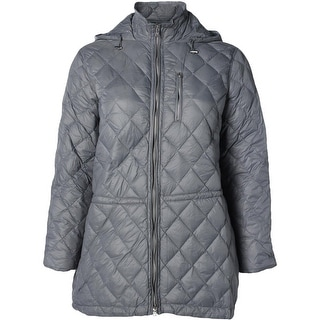 Lauren Ralph Lauren Womens Plus Down Fill Quilted Puffer Jacket - 2X