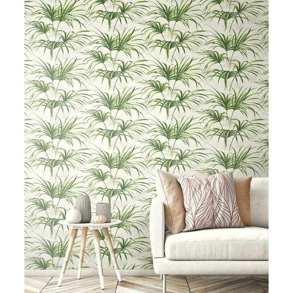 Shop Nextwall Tropical Palm Leaf Peel And Stick Removable Wallpaper 20 5 In W X 18 Ft L Overstock 31053532