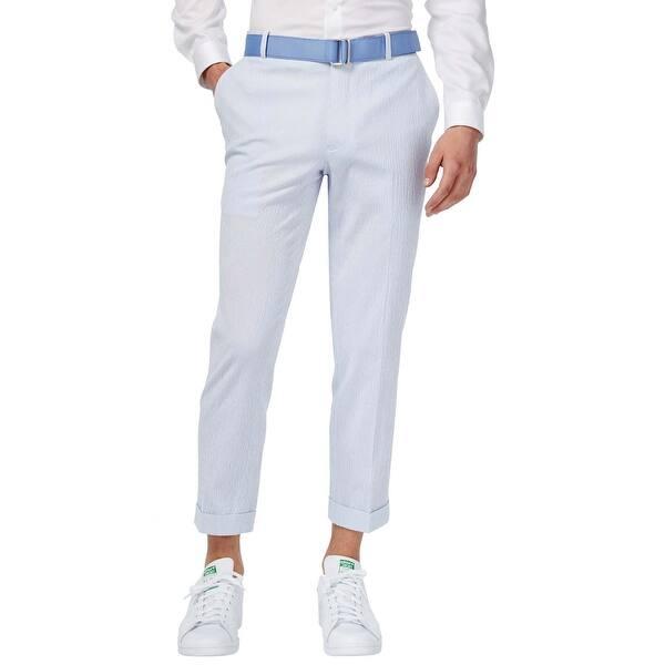 Shop Inc International Concepts Slim Fit Cropped Pants 38 30 Blue