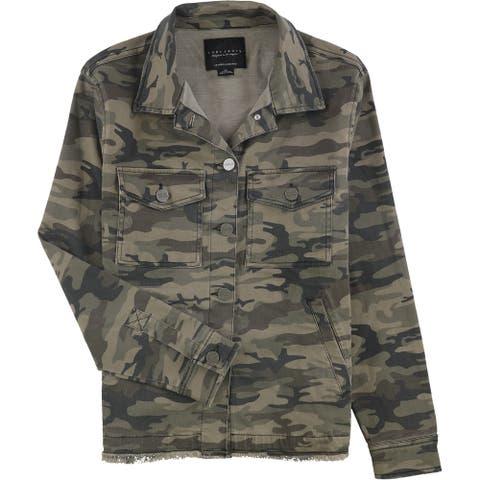 Sanctuary Clothing Womens Raw Hem Trucker Jacket