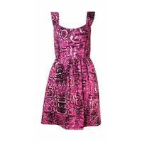 Bar III Women's Sleeveless Snake Print Dress - radiant berry combo - s