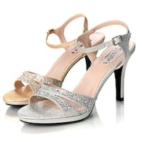 Sweetie's Shoes Silver Jeweled Strappy Sylvia Dress Sandal