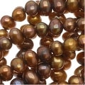 Bronze Gold Round Cultured Potato Pearls 3-5mm (16 Inch Strand) - Thumbnail 0