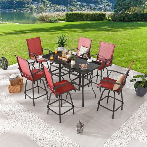 8-Piece Outdoor High-Seating Dining Set