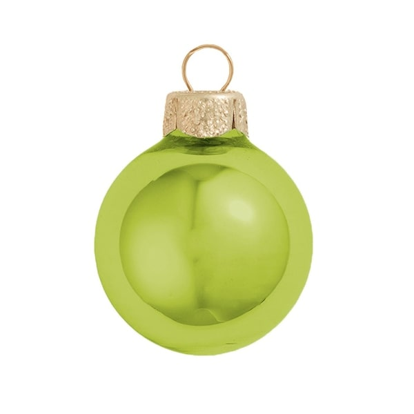 "Shiny Soft Yellow Glass Ball Christmas Ornament 7"" (180mm)"