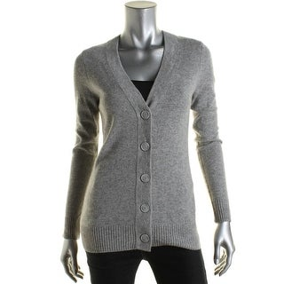 Private Label Womens Cashmere Heathered Cardigan Sweater