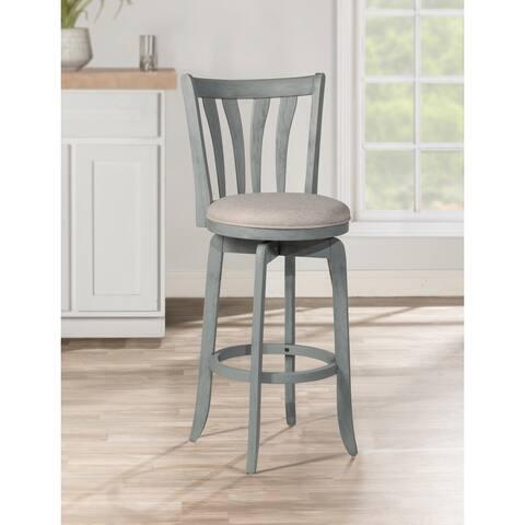 Hillsdale Furniture Savana Wood Upholstered Swivel Stool
