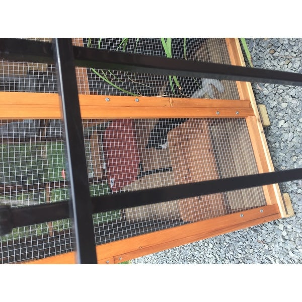 Shop Pawhut Large Wooden Outdoor Cat Enclosure Cage with 6