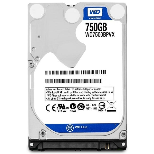 Wd Blue 750Gb Mobile Hard Disk Drive - 5400 Rpm Sata 6 Gb/S 9 5 Mm 2 5 Inch  - Wd7500bpvx