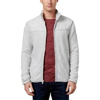 Tommy Hilfiger Mens Full Zip Sweater Fleece Contrast Trim
