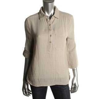 Felicite Womens Pocket Casual Top