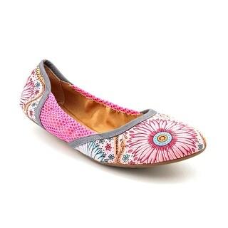Dimmi Hari Om Women Round Toe Canvas Pink Ballet Flats