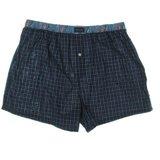 Tommy Hilfiger Mens Cotton Woven Grid Boxers - XL