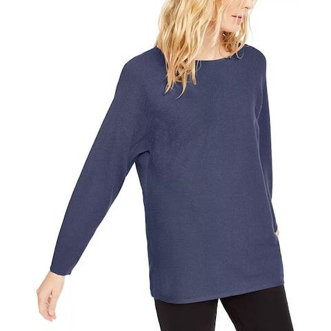 INC International Concepts Women's Ribbed Knit Sweater Purple Size XXL - XX-Large