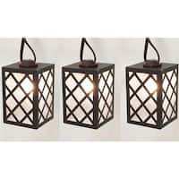 Living Accents  9 ft. C7 Brown Lantern Light Set  Clear - 10 Lights