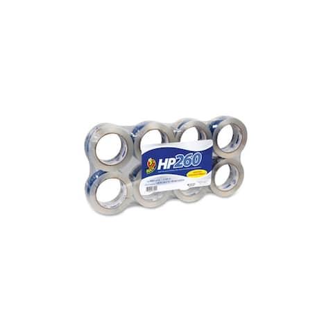 Duck 1067839 Duck HP260 Packaging Tape - 8 pk. - 1.88 Width x 60 yd Length - Heavy Duty - 8 Roll - Crystal Clear