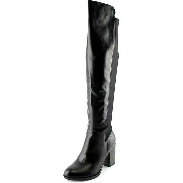 Indigo Rd. Leena Women Round Toe Synthetic Black Knee High Boot