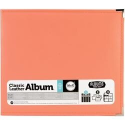"""Coral - We R Classic Leather D-Ring Album 12""""X12"""""""
