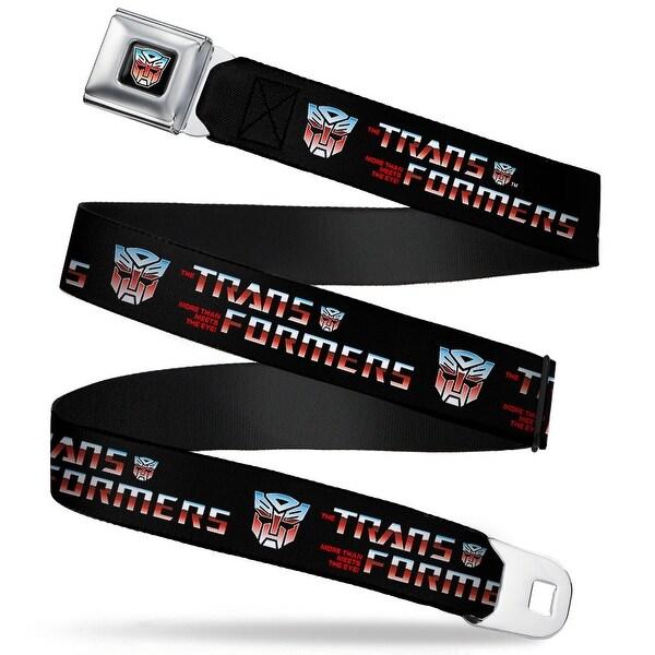 Transformers Autobot Logo Full Color Black Blue Red Fade Transformers Logo Seatbelt Belt