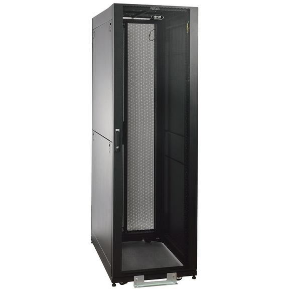 Tripp Lite 42U Rack Enclosure Server Cabinet Doors And Sides 2400Lb. Capacity Components Sr2400 Black