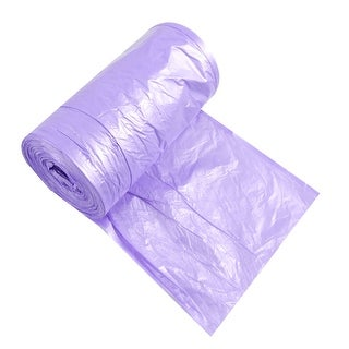 Unique Bargains Ponit-to-Break Rubbish Waste Garbage Trash Bag Roll Purple