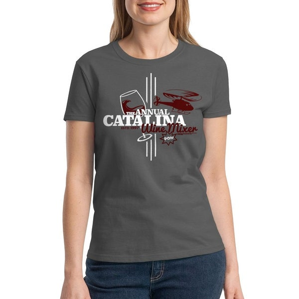 Shop Step Brothers Catalina Wine Mixer Womens Charcoal T Shirt