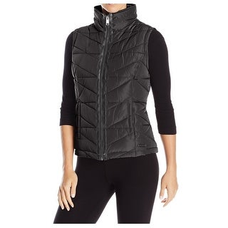 Marc New York NEW Black Womens Medium M Quilted Full-Zip Vest Jacket