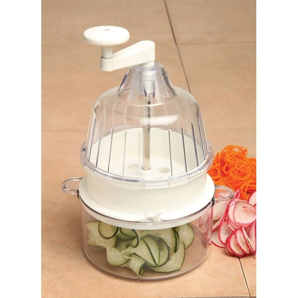 Joyce Chen Saladacco Spiral Vegetable Slicer White 9 1 2 Inches Overstock 31002965