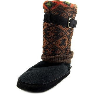 Muk Luks Fiona Safari Women Round Toe Canvas Slipper