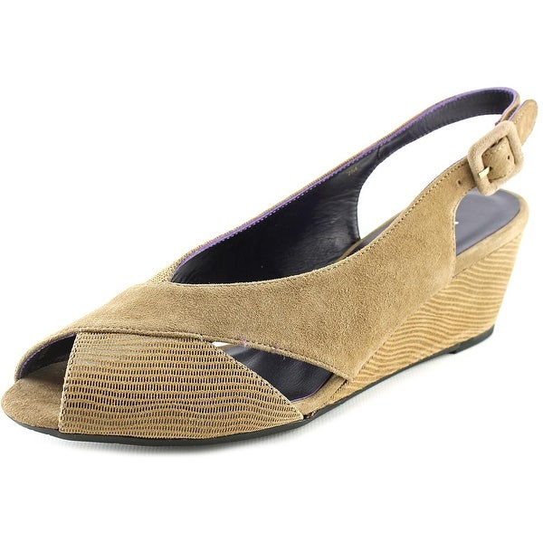 Vaneli Wilda Women  Peep-Toe Suede  Slingback Heel